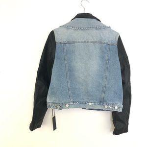 Blank NYC Jackets & Coats - NWT Blank NYC Denim Vegan Leather Jean Jacket